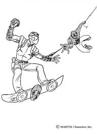 Spiderman Catching New Goblin Coloring Pages