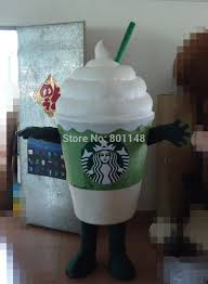 Actual Picture Starbuck Icecream Cup Mascot Costume Character Fancy Dress Cartoon Outfit Suit Free Ship In Anime Costumes From Novelty Special Use On