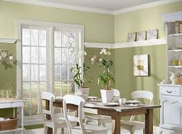 Green Dining Room Ideas Two Tone Paint
