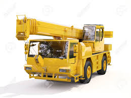 100 Truck Mounted Crane On White Background Stock Photo Picture And