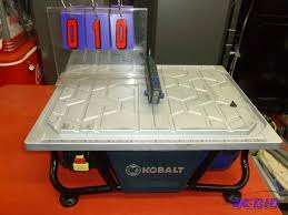 kobalt wet tile saw with built in water tray sns auctions