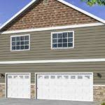 Smart Placement Story Car Garage Plans Ideas by Garages Three Car Two Story Raised Roof Garage Wide Built