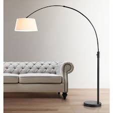 Cb2 Green Arc Lamp by Hometrend Orbita White Shaded Oil Rubbed Bronze Arch Floor Lamp