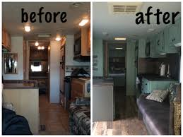 Before After Of The Entire RV
