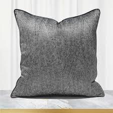 schwarz grau kissen abdeckung 50x50 hohe präzision stoff wurf kissen abdeckung für schlafzimmer wohnzimmer sofa luxus kissen 45x45