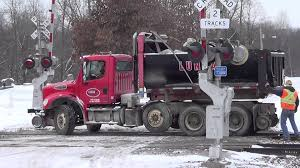 Two Hi-Rail Dump Trucks Get On Track - YouTube Single Axle Freightliner Dump Truck Youtube Bobcat A770 Loading Kids Video 1979 Ford F600 Truck New Video By Fun Academy On Trucks For Kenworth T880 Mack Granite Dump 1990 Gmc Topkick 100 Sold United Exchange Usa Inspiring Pictures Of A 21799 Lanl Debuts Hybrid Garbage My Ford F150 In The Mud Pulling Out A Stuck Euclid