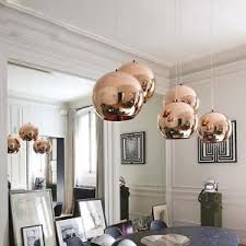 Image Is Loading New Style DIY Copper Mirror Ball Ceiling Light