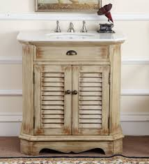 Distressed Bathroom Vanity Gray by 32
