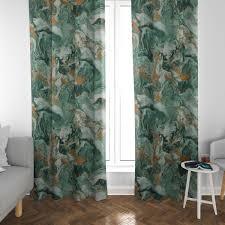 schöner leben vorhang digitaldruck retro batik grün gold 245cm oder wunschlänge