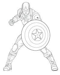 Captain America Coloring Gallery Of Pages Photos