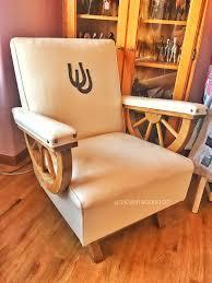 1950s Wagon Wheel Rocker Chair