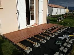 pose terrasse lame composite sur plot beton projets à essayer