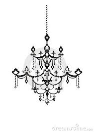 Appealing Chandelier Clipart Gothic Pencil And In Color At Black White