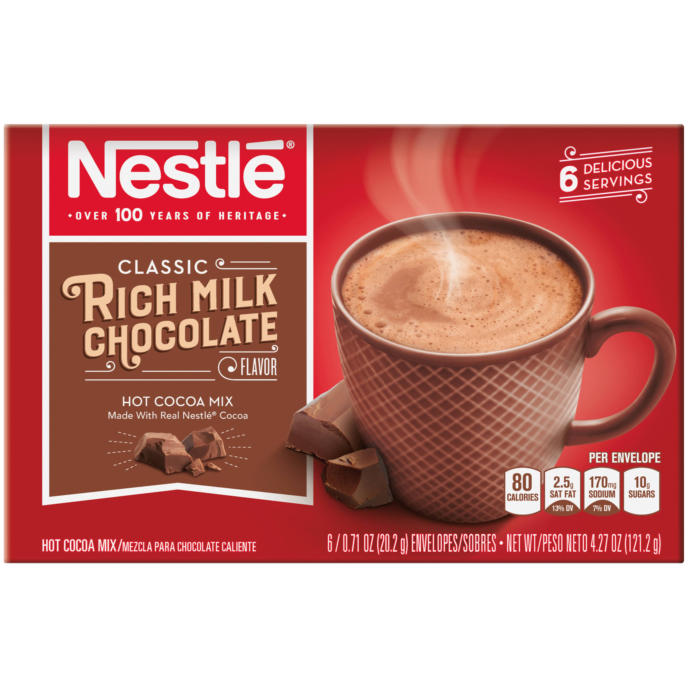 Nestle Hot Cocoa Mix - Rich Milk Chocolate, 6ct