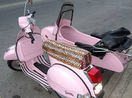 Pink Scooter With Sidecar