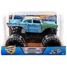 100 Blue Monster Truck 2018 DieCast Vehicles Jam 124 Avenger Junkyard World