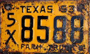 Custom Fine Art Photograph Of A Farm Truck License Plate By Blackeye ...
