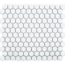 Zoro Mosaic White Hexagon Matt 335x292 Tile