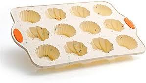svebake silikon backform für mini muffin und gugelhupf kuchen mit metallverstärkungsrahmen kuchenform klein traditioneller savarin stil 12er
