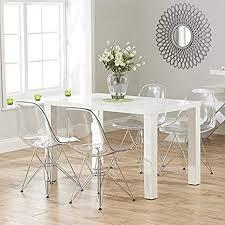 dakea esszimmerstuhl 4er set küchenstühle polycarbonat wohnzimmerstuhl 46cm x 81cm transparent stuhl