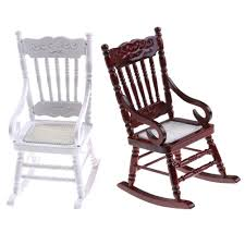 Old Wooden Rocking Chair White Background Furniture Wood ...