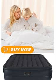 Serta Raised Air Bed by Intex Raised Downy Airbed With Built In Electric Pump Queen Bed