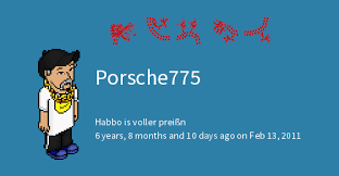 porsche775 from habbo de habbowidgets