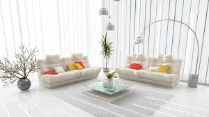 intérieur et canapé déco salon blanc pour un intérieur lumineux et moderne