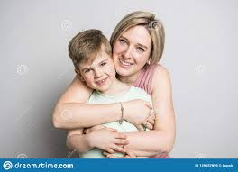100 Studio Son Mother And On White Background Stock Image