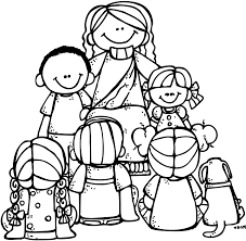 Free Lds Clipart To Color For Primary Children Jesus Kids Black