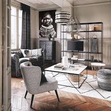 laterne aus metall h 61 cm schwarz maisons du monde