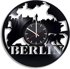 chenwn berlin city vinyl wanduhr vinyl schallplattenuhr