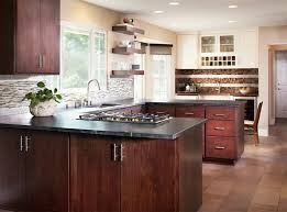Modern Kitchen Elegant Design In U Form With Floor Tiles