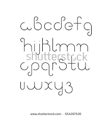 Vector Linear Font Simple Alphabet Mono Stock 554297530
