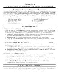 Sample Resume For Bankers Job Combined With Bank Examples