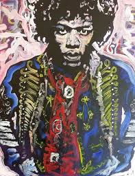 Canvas Painting Jimi Hendrix Art Pop Paintings On Wall 16x20 Rock Music