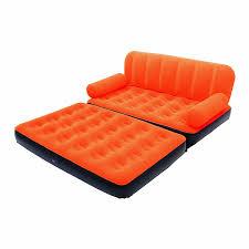 canapé lit gonflable canapé lit gonflable 4 en 1 orange pompe incluse maison futée