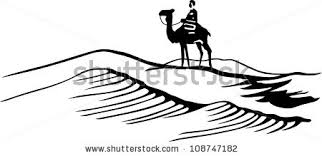 Stock Vector Bedouin In Desert 108747182