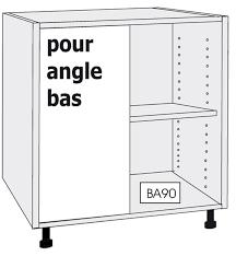 meuble bas d angle cuisine caisson bas pour angle droit meubles à composer meubles à