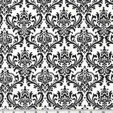 Madison Black White Damask Home Dec Fabric By Premier Prints