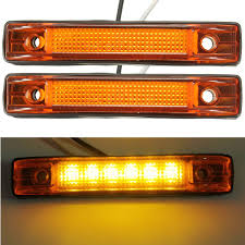 2Pcs 12V Yellow 6 LED Clearance Side Marker Light Indicator Lamp ... 25 Oval Truck Led Front Side Rear Marker Lights Trailer Amber 10 Xprite 7 Inch Round Super Bright 120w G1 Cree Projector 4 Rectangular Lamp Light For Bus Boat Rv 12 Clearance Speedtech 12v 3 Indicators 4pcs In 1ea Of An Arrow B52 55101 Amber Marker Lights Parts World Vms 0309 Dodge Ram 3500 Bed Side Fender Dually Marker Lights 1pc Red Car Led Truck 24v Turn Signal 2018 24v 12v For Lorry Trucks 200914 F150 Front F150ledscom Tips To Modify Vehicle With Tedxumkc Decoration