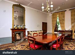 Antique Dining Room Big Table Chairs Stock Photo (Edit Now ...