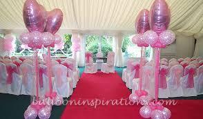 Intimate Wedding Balloon Decorations