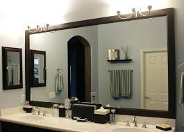 lighted bathroom wall mirror large decor with framed