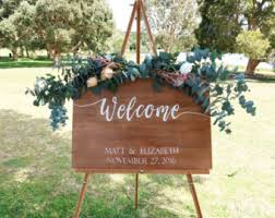 Welcome Wedding Sign Wooden Rustic Decorative