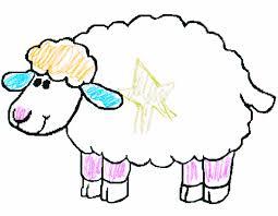 Sheep Drawings For Kids