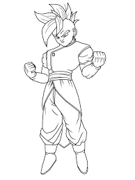 Dragon Ball Z God Emperor Ready To Fight Coloring Pages For Kids Printable