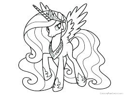 Princess Twilight Sparkle Coloring Page Pages My Little Pony Online