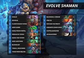 evolve shaman is still a fun reliable hearthstone top decks