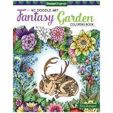 Kc Doodle Art Fantasy Garden Coloring Book Paperback Krisa Bousquet